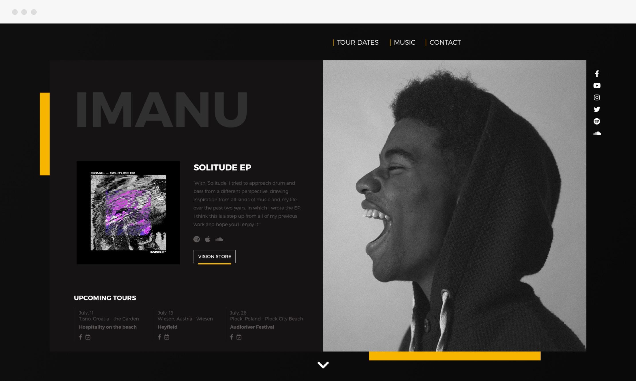 Imanu Front Page