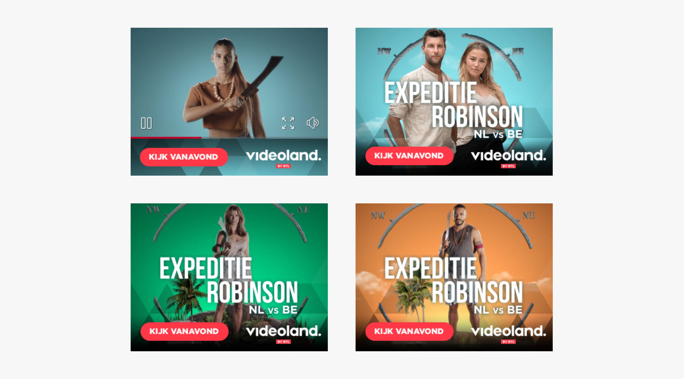 Expeditie Robinson Ad types